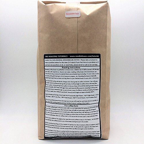 Smokin Beans Guatemala Antigua Green Unroasted Whole Coffee Beans in a Burlap Bag - 20 Pounds