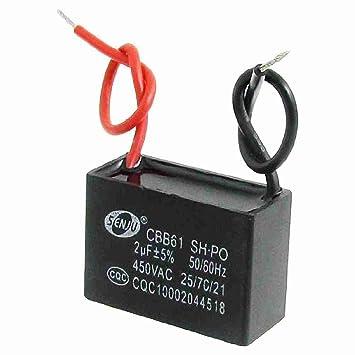 AC 450V 2UF 50 / 60Hz Fan Motor Run Kondensator CBB61: Amazon.de ...