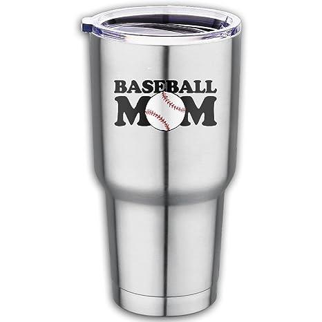 Amazon.com: 20 oz vaso de acero inoxidable béisbol mamá con ...