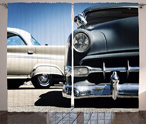Ambesonne Vintage Car Curtain