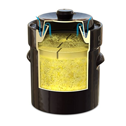 TSM Products 31062 German Style Fermentation Harvest Pot with Stone Weight, 15-Liter by TSM Products (Image #1)'
