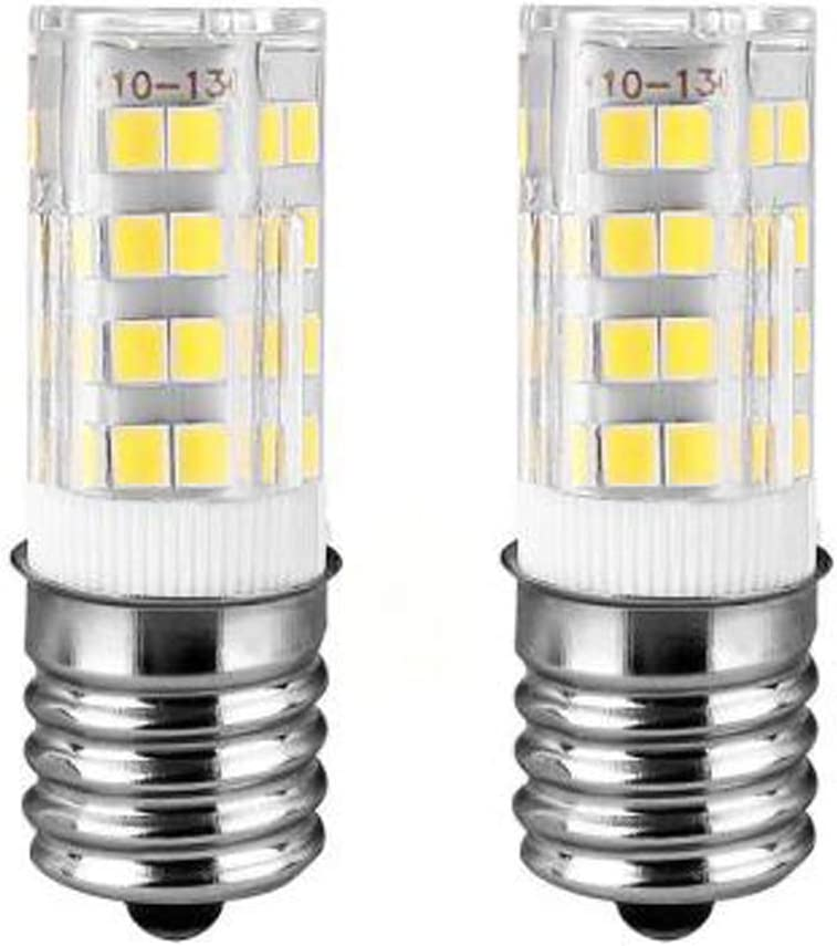 Ceramic E17 LED Bulb for Microwave Oven Appliance, 40W Halogen Bulb Equivalent, Daylight White 6000K, Pack of 2