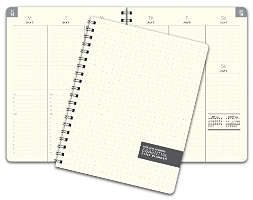 Essential 8.5x11 Monthly & Weekly 2018-2019 Academic Year Planner - July 2018 Through July 2019 - Professional, Simple, Easy-to-Use Design. Frosted Vinyl Covers for Extra Protection. -