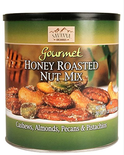 - Savanna Orchards Gourmet Honey Roasted Nut Mix with Pistachios, 30 oz.