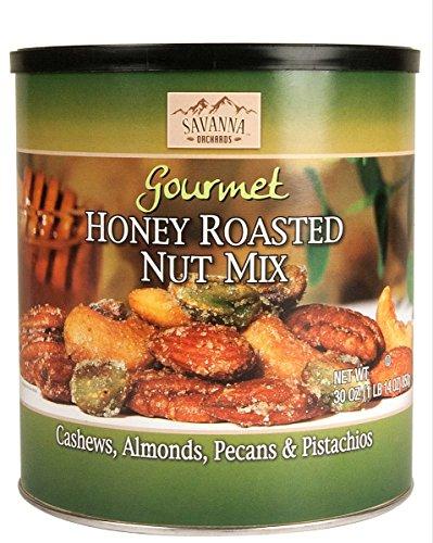 Honey Roasted Nut - Savanna Orchards Gourmet Honey Roasted Nut Mix with Pistachios, 30 oz.