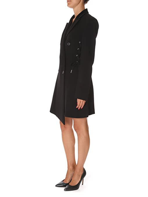 Pinko Women s Vulcanoz99 Black Polyester Coat  Amazon.co.uk  Clothing 8f2171a2109