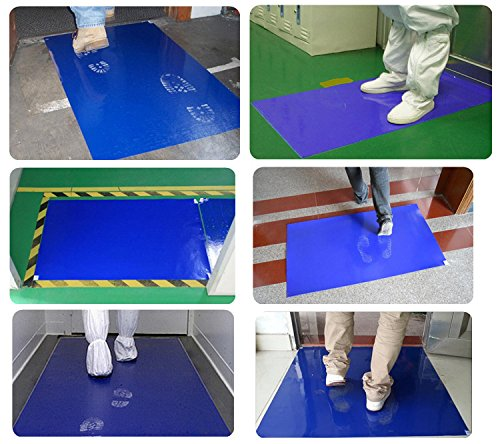 MWIMBEIWM Sticky Mat 36'' x 24'' 900sheets Clean Room Adhensive Tacky Replacement Blue Laboratory by MWIMBEIWM (Image #7)