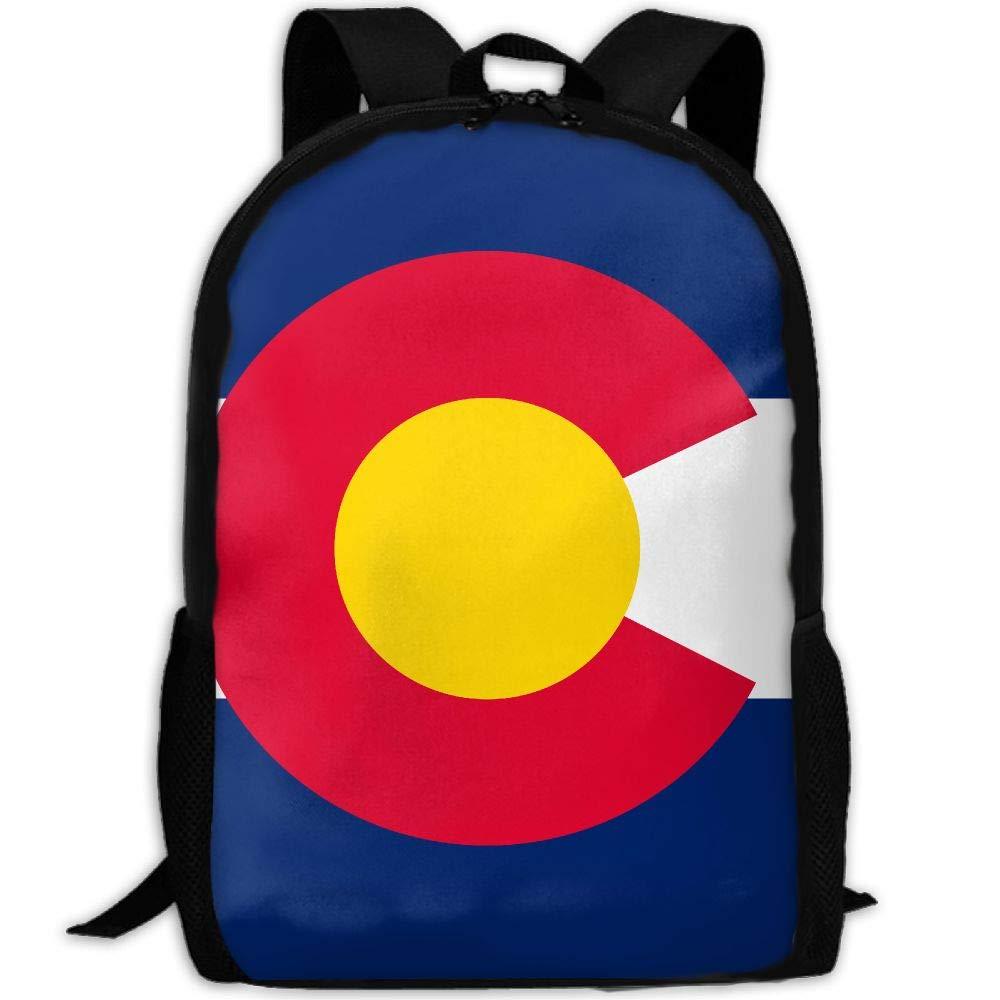 OIlXKV Colorado Flag Print Custom Casual School Bag Backpack Multipurpose Travel Daypack For Adult