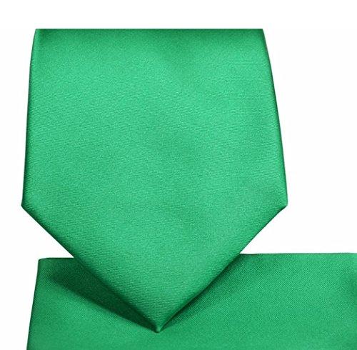 Oliver George Solid Necktie Set (emerald green) #1010-D -