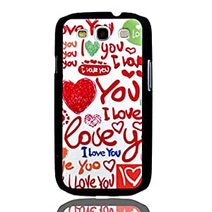 GHK - I Love You Embossment Painting Pattern Plastic Hard Back Case Cover for Samsung Galaxy S3 I9300
