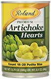 Roland Foods Artichoke Hearts, Petite, 13.75 Ounce (Pack of 12)