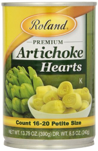 (Roland Foods Artichoke Hearts, Petite, 13.75 Ounce (Pack of 12))