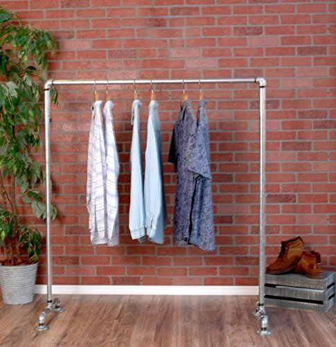 Silver Urban Racks (Industrial Pipe Clothing Rack Galvanized Silver Pipe by William Robert's Vintage)