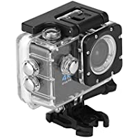 DDSKY Wireless Ultra HD 4K Aerial DV FHD 2 1080P WIFI Sports Camera IPX8 30 m/98.4ft Waterproof Sports Camcorder 170 Degree Wide Angle Lens Support TF Card Max 32G for Android IOS System(Black)