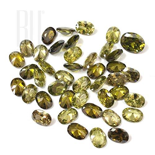 Be You Péridot sombre Couleur Zircone Cubique AAA Qualité 2x3 mm Diamant Coupe Ovale Forme 500 pcs gemme