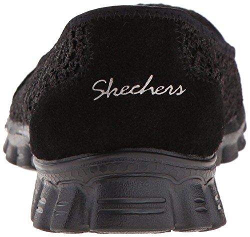 Skechers EZ Flex 2 Flightly Negro Mujeres Slipon Zapatos