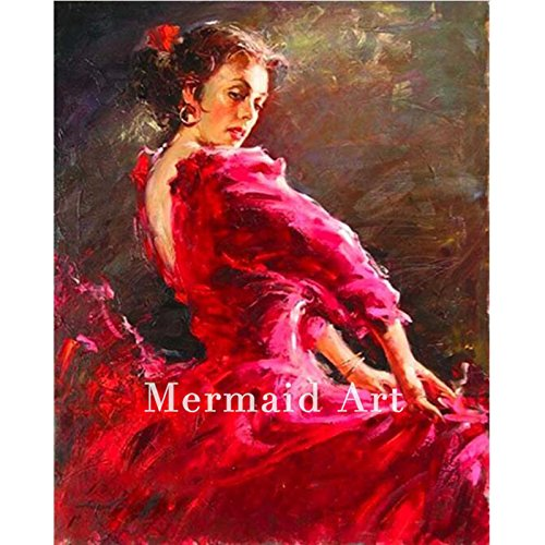 Alta calidad alta capacidad artista puro hecho a mano abstracto ...