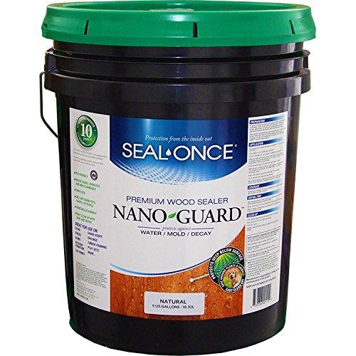 Seal Once 3111 premixed Nano Guard Premium Wood Sealer Natural 5-gallon
