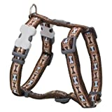 Red Dingo Bone Yard Brown XLarge Dog Harness