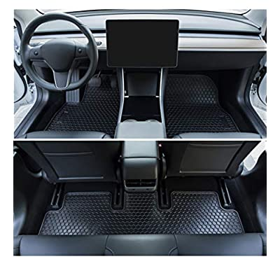 Bonbo Model 3 All Weather Floor Mats & Trunk Cargo Liners for Tesla Model 3 2020 2020 2020 2020 Custom Fit Eco-Friendly Heavy Duty Rubber Odorless (6 Pcs): Automotive