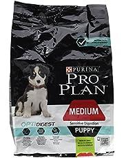 Purina Pro Plan Torr hund hund mat, känslig digestion med optidigest, rik på lamm, medium docka, väska