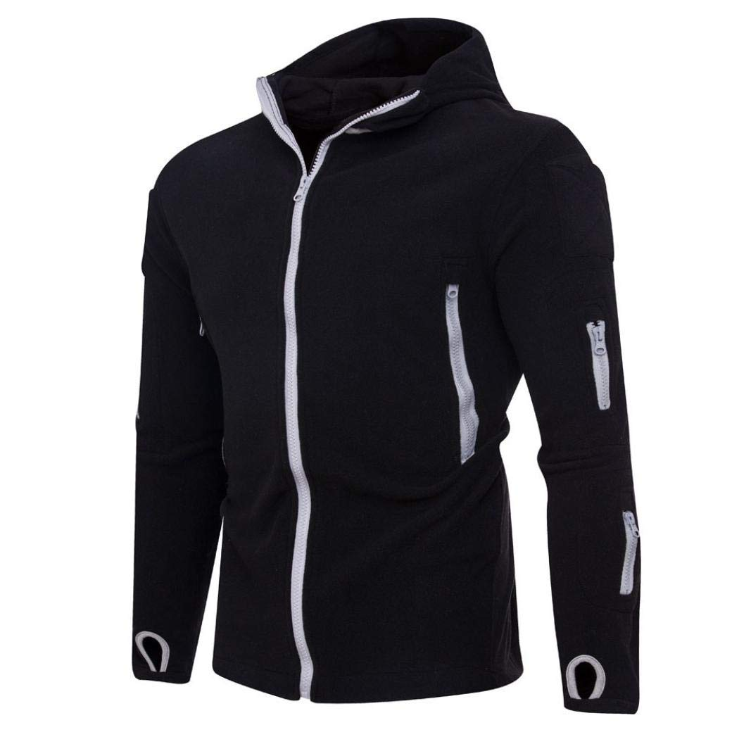 Sharemen Zipper Sweatshirt Men Fall Winter Casual Sports Coat