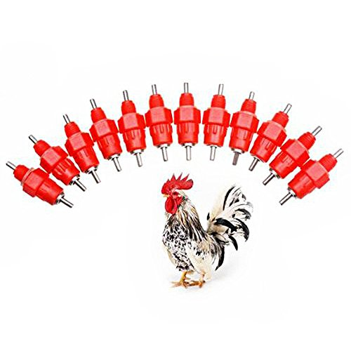 Automatic Chicken Water Nipple Drinker Feeders Poultry Care Hen Screw Style Farmer Chicken Turckey Drinker Kit Best Christmas Gift for Poultry Keeper HJC01-US (10)