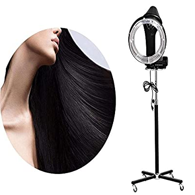 Cheesea Salon Hair Steamer with Rolling Floor Stand Base for Hair Dry Roller/ Heater Perm /Color/ Treatment Processor, Black