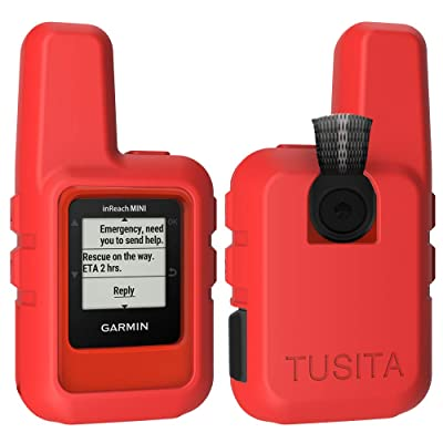 TUSITA Case for Garmin inReach Mini - Silicone Protective Cover - Handheld Satellite Communicator Accessories (Red): GPS & Navigation