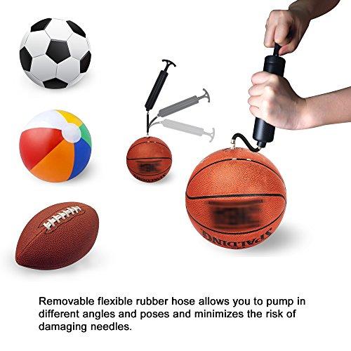 Bosu Ball Air Pump: Ball Pump For Basketball, Soccer, Volleyball, Rugby, Water