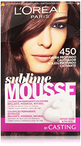 🥇 L'Oreal Paris Sublime Mousse Coloración Permanente 450 Caoba Profundo Cautivador