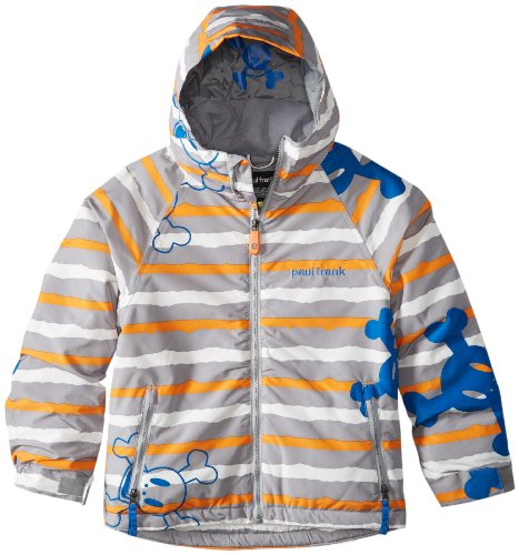 Paul Frank Boy's Skurvy Rip Stripe Jacket, Grey, X-Large 2010 Snowboard Jacket
