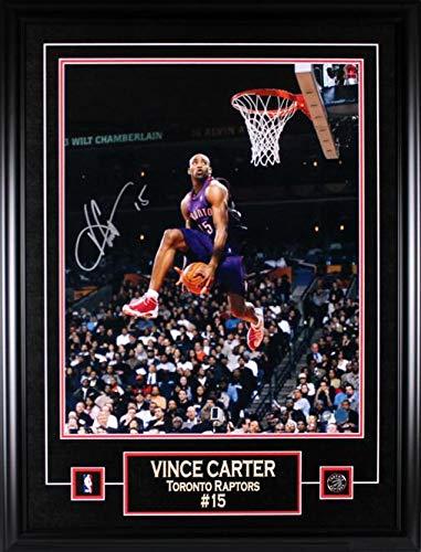 Frameworth Vince Carter Signed 16x20 Raptors Slam Dunk - Autographed NBA Photos