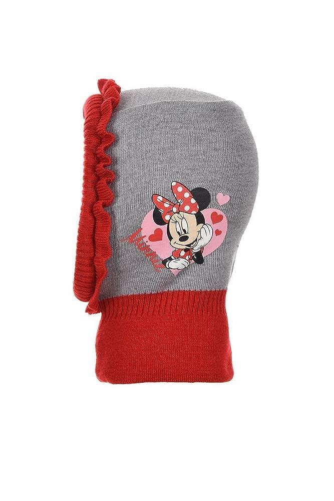 Minnie Mouse Disney Kinder Schlupfm/ütze Winterm/ütze Grau//Rot