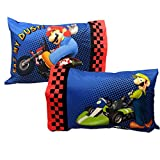 Super Mario Kart Pillowcases Nintendo Race Bed Accessories
