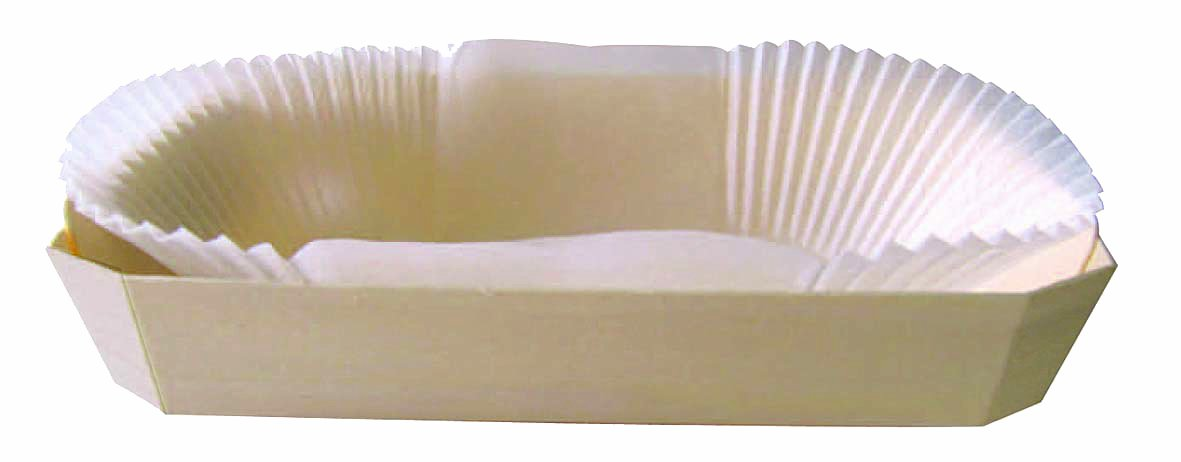 PacknWood Wooden Baking Mold, Baking Liner Included, 30 oz. Capacity (Case of 100) by PacknWood (Image #1)