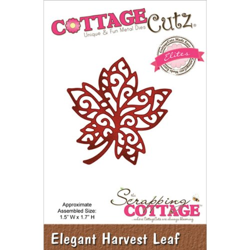 CottageCutz CCE065 Elites Die Cuts, 1.5 by 1.7-Inch, Elegant Harvest Leaf