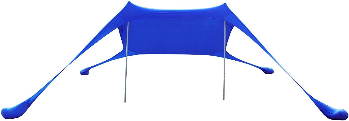 Sunshade for Family at The Beach AMMSUN Beach Tent with sandbag Anchors Parks Camping /& Outdoor Portable Canopy Sun Shelter,7 X 7ft -Lightweight 100/% Lycra SunShelter with UV Protection