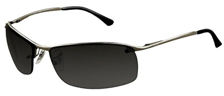 6b60773be0 Amazon.com  Ray-Ban RB 3183 Sunglasses Gunmetal   Grey Silver Mirror  Polarized (004 82) 63mm   HDO Cleaning Carekit Bundle  Clothing