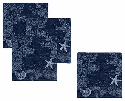 Merritt International Seaside Postcard - 11in Square Plate 4 - Merritt Square