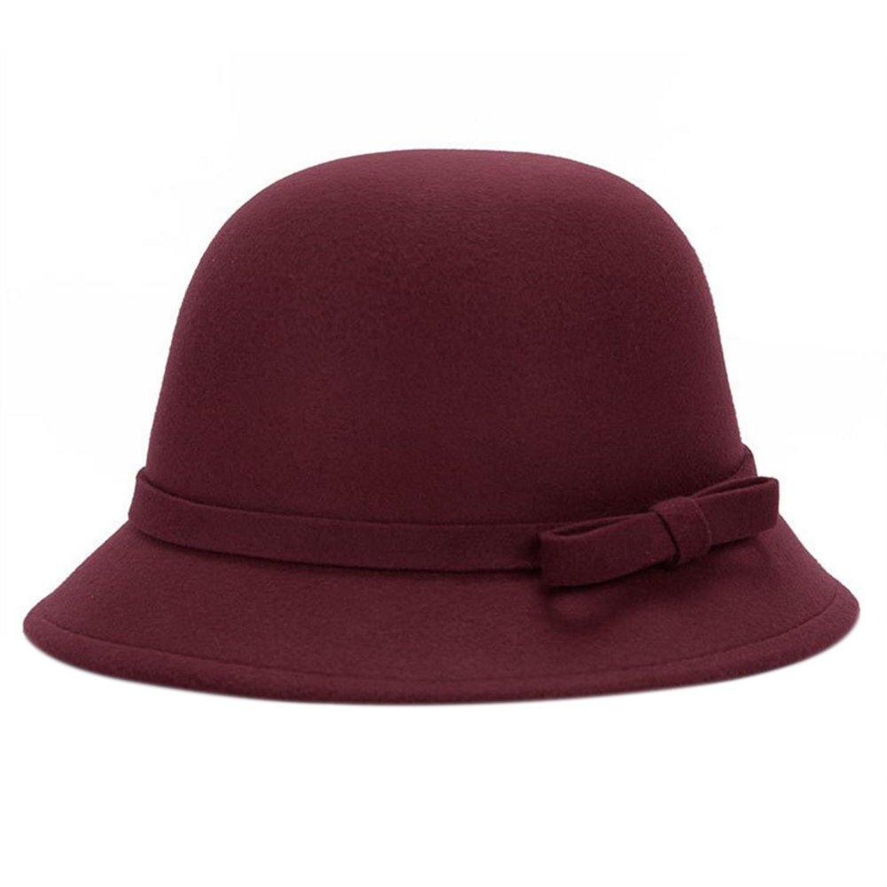 Leisial™ Sombrero del Elegante con Arco Algodón Más Caliente Casual Gorro Retro Invierno Otoño para Mujer 8174832Z7KGR106