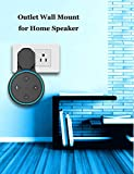 WGOAL New Outlet Wall Mount Stand Hanger Holder Can Hide Both Adapter and Wires,Perfect Accessories for Your Home Smart Speaker (Black)
