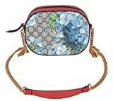 Gucci Womens GG Blooms Coated Canvas Small Crossbody Purse