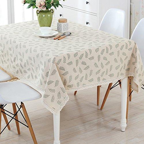 Bringsine Fashion Classic Rectangular Cotton Linen Lace Leav