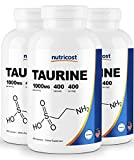 Nutricost Taurine 1000mg; 400 Capsules (3 Bottles) For Sale