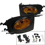Spec-D Tuning LF-CV023AMOEM-HZ For Honda Civic Si 3DR Amber Lens OEM Style Fog Lights+Bulbs+Switch