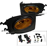 Spec-D Tuning Yellow Lens Fog Lights + H11 Bulbs + Switch Included for 2002-2005 Civic 3Dr Hatch Si Foglight Lamp…
