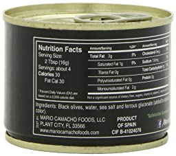 Mario Sliced Black Olives, 2.25-Ounce Cans (Pack of 8)
