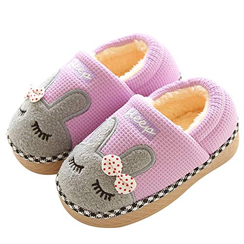 Memory Foam Slipper Boot Booties Shoes for Toddler Kids Child Furry High Top Ankle Slippers Boys Girls