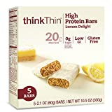 thinkThin High Protein Bars, Lemon Delight, 5 count Review